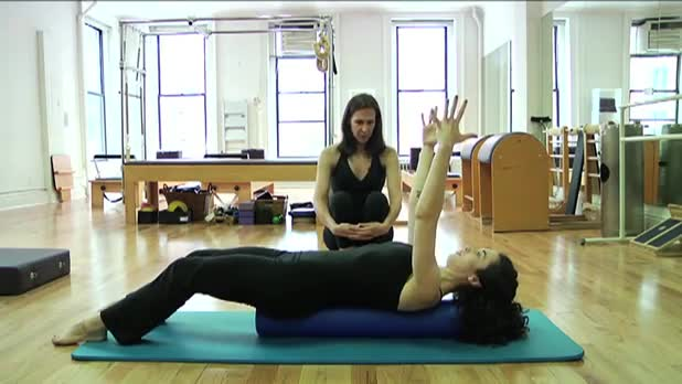 Pilates Roll Up on the Roller - Women's Fitness