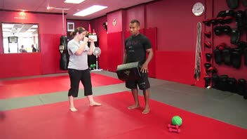 Self-Defense Workout: Groin Kick - Women's Fitness