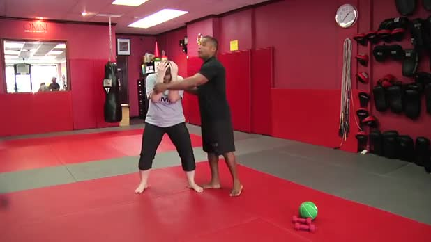 Self-Defense Workout: Jam Punch into Elbow - Women's Fitness