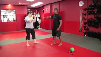 Self-Defense Workout: Push Kick - Women's Fitness