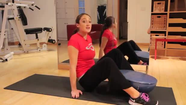 Hip Rolls on Bosu - Women's Fitness