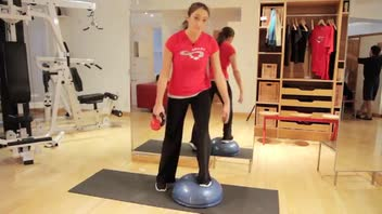 Squats on Bosu - Women's Fitness