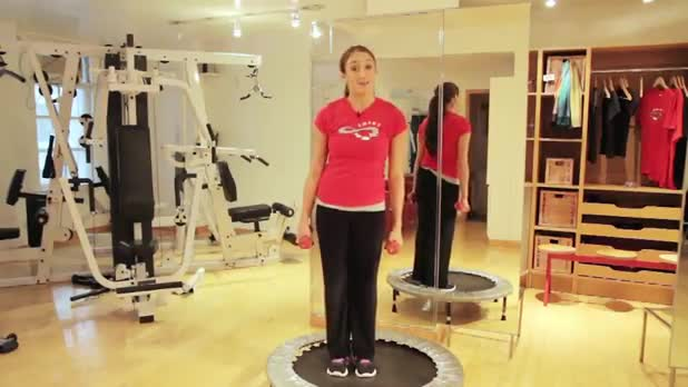 Weights on Trampoline - Women's Fitness