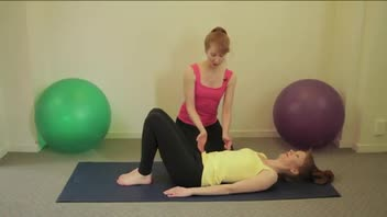 Strengthen Abs with Pilates Double Leg Stretch Exercise - Women's Fitness