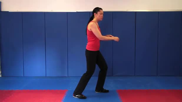 Tai Chi: Spread Arms Like Fan into Step Around and Chop - Women's Fitness