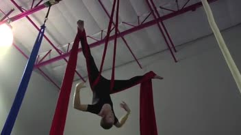 Circus Exercises: Aerial Sequence on Tissue or Silks - Women's Fitness