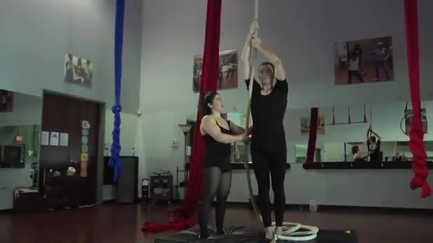 Circus Exercises: Straddle Back on the Rope - Women's Fitness