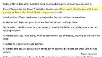 Drunken 'Batman' Directs Traffic