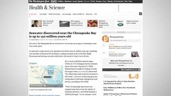 150 Million Year Old Ocean Water Discovered Close in Chesapeake Bay