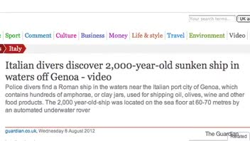 2000-Year-Old Roman Ship Found