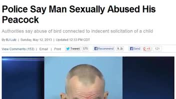 Man Allegedly Sexually Abused Peacock