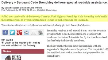 Twins Born on Freeway