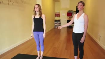 Wide Angle Standing Forward Bend Variation A Pose - Women's Fitness