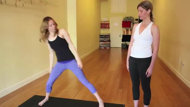 Wide Angle Standing Forward Bend Variation D Pose - Women's Fitness