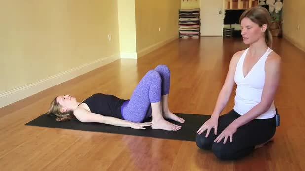 How to Do Yoga Bridge Pose Variation 3 Pose - Women's Fitness