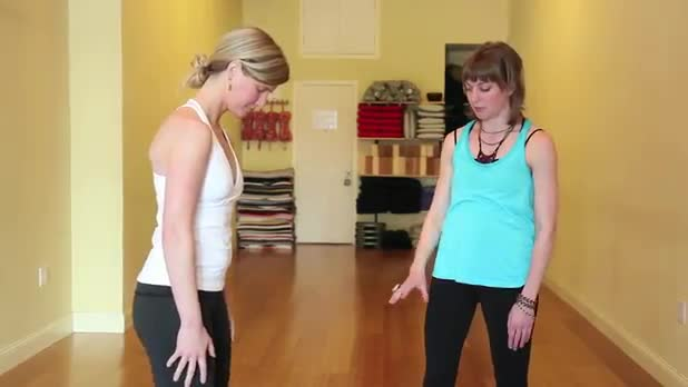 How to Do Yoga Standing Forward Fold Pose - Women's Fitness