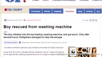 7-Year-Old Rescued from Washing Machine