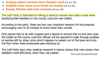 Proposed Law Requires Men to Sit While Urinating