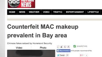 Authorities Concerned About Counterfeit MAC Cosmetics