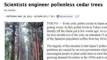 Japanese Scientists Develop Pollen-Free Trees
