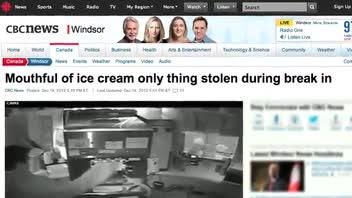 Suspect Steals Only Ice Cream From Kiosk
